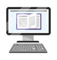 online education computer cartoon vector image