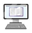 online education computer cartoon vector image