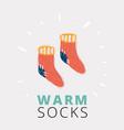 pair socks vector image vector image