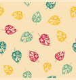 pattern with leaves on bright background vector image vector image