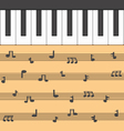 piano music vector image