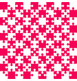 pink puzzle pieces - jigsaw - field chess vector image vector image