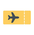 plane ticket icon simple minimal 96x96 pictogram vector image vector image