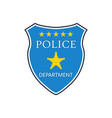 police badge shield cop department badge vector image vector image