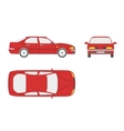Red car on a white background vector image vector image