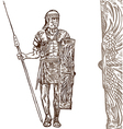 roman warrior hand draw vector image