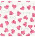 Seamless hearts pattern retro texture red and mint vector image vector image