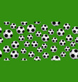 seamless soccer balls vector image vector image