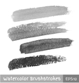 set gray watercolor brush strokes vector image vector image