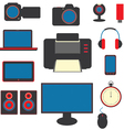 Set of gadgets vector image