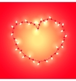 Stylized heart made of glowing garland vector image