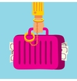 suitcase with money handcuffed to a mafia vector image vector image