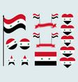 syrian flag set collection of symbols flag vector image vector image