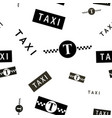 taxi symbols black and white seamless background vector image vector image