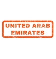 United Arab Emirates Rubber Stamp vector image vector image