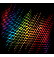 vector color scale equalizer on black background vector image vector image