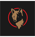 vintage wolf face logo vector image vector image