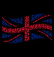 waving united kingdom flag collage of mourning vector image vector image