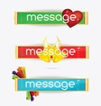 web creative colored banners set isolated vector image