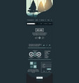 website template contact box vector image