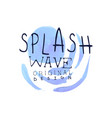 splash wave logo template original design aqua vector image