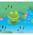 happy smiling frog vector image