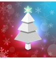 Christmas tree with snowflakes vector image