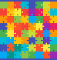 64 colorful background puzzle jigsaw banner vector image vector image
