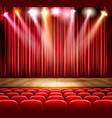 a theater stage with a spotlight festival show vector image vector image