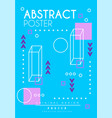 abstract poster original design creative blue vector image vector image