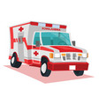 ambulance car cartoon vector image vector image