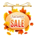 Autumn Sale Signboard vector image