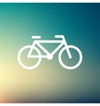 Bicycle thin line icon vector image vector image