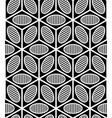 black and white abstract geometric seamless 3d