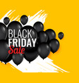 black friday balloon background for sale and vector image vector image