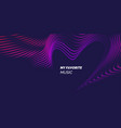 bright abstract background with a dynamic waves of vector image