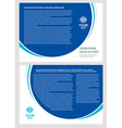 brochure folder simple design cmyk vector image vector image