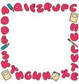bubble alphabet frame colored abc for kids