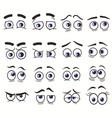 cartoon funny eyes faces set vector image