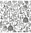 Christmas set of hand-drawn vector image vector image