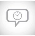 Clock grey message icon vector image vector image