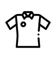 cricket t-shirt icon outline vector image vector image
