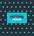 dark blue background with polka dots pattern vector image vector image