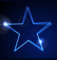 dark blue glowing neon abstract star background vector image