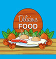 delicious food menu icons vector image vector image