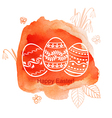 Easter watercolor red vector image vector image