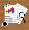 file with diagram marketing vector image vector image