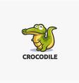 friendly mascot crocodile logo template vector image vector image
