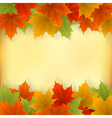 Golden autumn frame vector image vector image