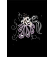 gothic flower vector image vector image